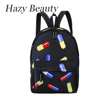 Hazy beauty New oxford capsule design women backpack super chic lady hand bags funny girls school bags high capacity hot DH577