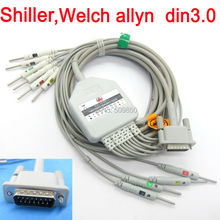 Shiller Welch allyn EKG cable 10 lead ecg cable din3.0 on terminal