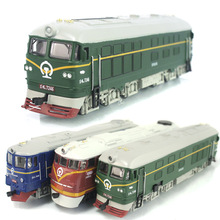Dongfeng 7246 locomotive 1:87 Train model alloy diecast pull back light sound Classic train toy kids boy diesel locomotive gift