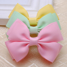 2pcs/lot solid grosgrain bows toddler baby girls hair ribbon bows  kids hair accessories for women can select  colors