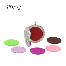 TDIYJ 60Pcs New Arrival Colorful Mixed 22mm Spacers Locket Fabric Pads fit for 30mm Essential Oil Aroma Diffuser Perfume Locket(China)
