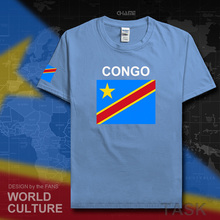 DR Congo men t shirts 2017 jerseys nation team cotton t-shirt gyms clothing tee country tops COD DRC DROC Congo-Kinsha Congolese