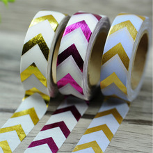 1pc New Design DIY Paper Sticky Gold Silver paper tape dot strip star Christmas decorative washi tape Scrapbooking Party Decor