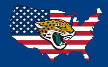 New style 3x5FT Jacksonville Jaguars flag with American banner flag 100D Polyester NFL flag hot sell Jacksonville Jaguars flag(China)