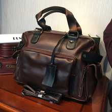 ETONWEAG Famous Brands Designer Leather Handbag Brown Fashion Men Messenger Bags Big Capacity Travel Handbags Retro Shoulder Bag