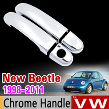for VW New Beetle 1998 - 2011 Chrome Handle Cover Trim for Volkswagen 2002 2003 2005 2007 2009 Accessories Stickers Car Styling(China)