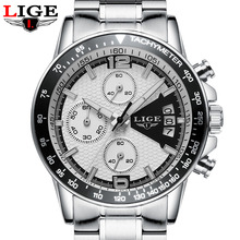 Buy Reloj Hombre 2017 Top Brand Luxury LIGE Fashion Chronograph Sport Mens Watches Military Quartz Watch Clock Man Relogio Masculino for $16.99 in AliExpress store