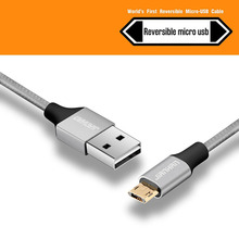 Reversible USB Micro USB Cable Data Sync Fast Charging Cables 10CM/50CM/1M/1.5M for Xiaomi,Samsung Galaxy,LG,Sony Android Phone(China)