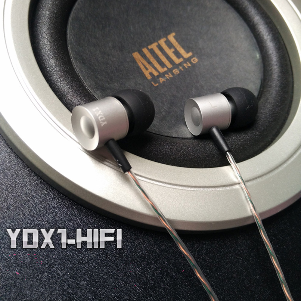 New Arrival Brand YDX1 Metal Bass 3.5mm In-Ear Earbuds HiFi In-Ear Earphone DIY Hand-woven cable earphone Without Microphone<br><br>Aliexpress