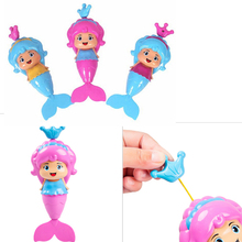 1pc Water Wind Up Cartoon Educational Learning Toy Classic Swimming Wound Up Toy Baby Mermaid Clockwork Dabbling Bath Toy(China)