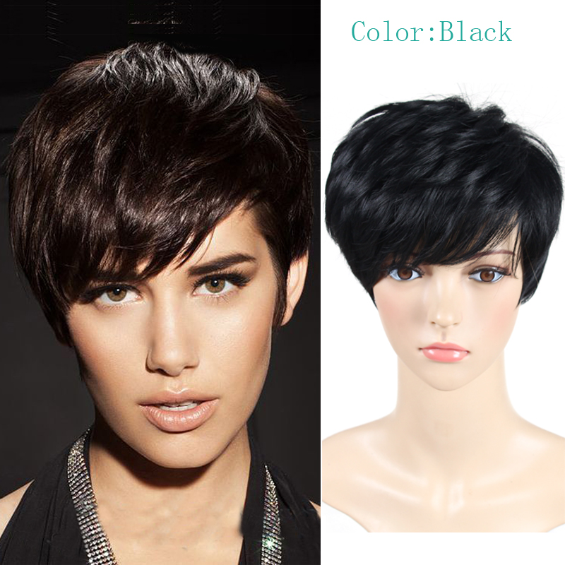 Rose Beauty wig short straight cosplay hair synthetic wigs,cute Pixie cut wig perruque synthetic women,cheap Afro wig peruca<br><br>Aliexpress