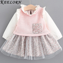 Keelorn Baby Girl Dress 2017 New Autumn girls dress Fashion princess Dress 1 year birthday dress baby girl clothes(China)