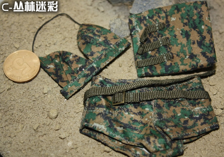 Camouflage hot clothes for1/6 12doll Dress up, clothes Suitable for DIY Soldier model , head shape and body are not included<br>