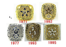 On Sale 1971 1977 1992 1993 1995 all Dallas Cowboys Super Bowl replic championship rings Size 11(China)