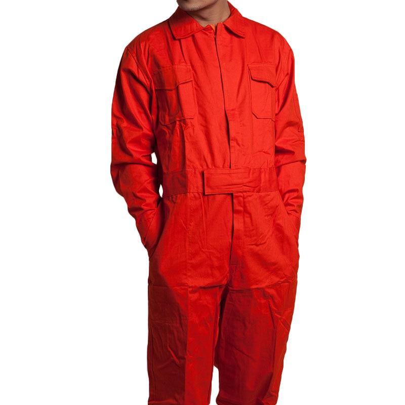 Men Work Overalls Long Sleeve Working Coveralls Comfortable Cotton Labor Uniforms Workwear Repairman Auto Repair Plus Size M-4XL<br>