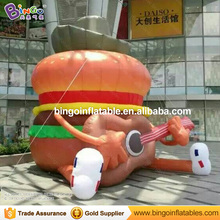 Giant 6M high Inflatable hamburger with guitar inflatable advertising hamburger balloons outdoor event / show decoration toys(China)