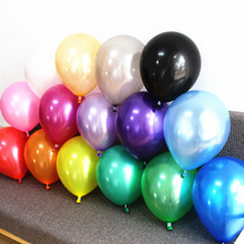 Silver Gold Balloons 20 pc 12 Inch Pearl Color Latex Balloons 3.2 g Birthday Decorations Party Ballon Decoration Globes Purple(China)