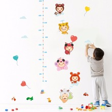Cartoon Baby Height Ruler Wall Stickers Kids Babies Infant Room Growth Chart Wall Paper Poster Nursery Wall Decals Wall Graphics