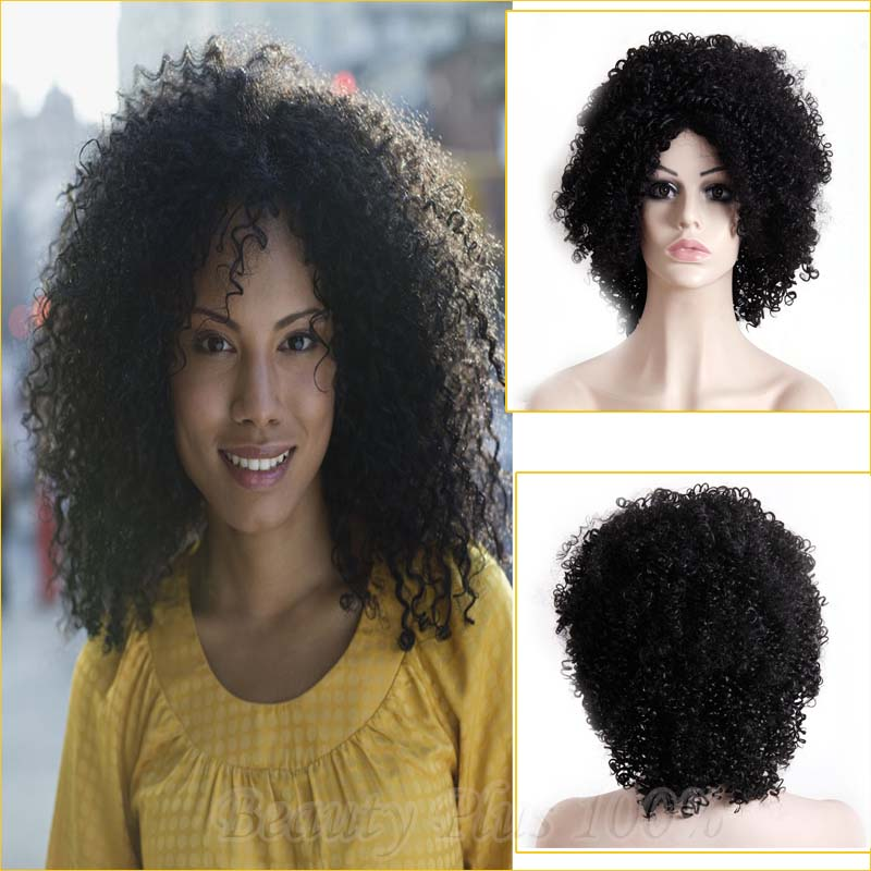 Heat Resistant Afro Kinky Curly Wigs Synthetic Highlights Brown Long Black Women Wigs For African Americans 14inch Free Shipping<br><br>Aliexpress