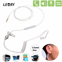 LEORY 3.5mm Anti Radiation Unilateral Spring Air Duct Earhook Earphone For iPhone For Xiaomi All Mobile Phone & MP3 MP4 Player(China)