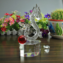 Crystal dragon twelve zodiac horse crafts business gift gift of gratitude teacher elder parents wall dies(China)