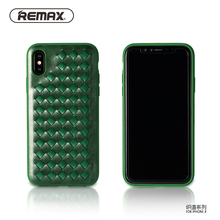 "Remax retro weave Designed Phone Case For Apple iPhone X PU Leather Vintage 5.8"" Phone Bag Case Protective Smooth Cover Sleeve(China)"