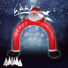 3m Christmas Inflatable Santa Cluas Archway Arched Door Blow-Up Decoration Advertising