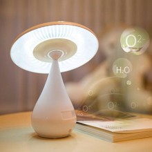 Negative ion air purifying LED lamp,Smoke Cleaner,Rechargeable Touch Control Night Light Mushroom Desk Lamp