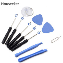 Houseeker Cell Phones Opening Pry For Iphone repair tool Herramientas 11 in 1 Mobile Phone Repair Tool Kit Screwdriver Set