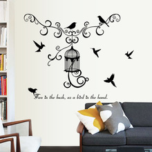 warm and fun modern birdcage bedroom living room corridor background wall decoration wall sticker home decoration accessories(China)