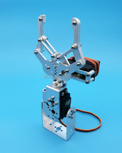 1 Set 2 DOF Silver Aluminum Robot Arm Clamp Claw Mount Kit (No Servo ) Fit For Arduino Wholesale Retail + Free Shipping