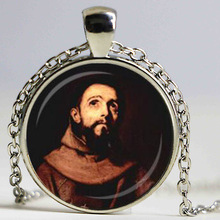 ST FRANCIS PENDANT St Francis of Assisi Necklace Spiritual Jewelry Animal Lover Jewelry Religious Pendant Inspirational Necklace