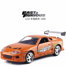 Wholesale New JADA 1/32 Scale Car Toys Fast Furious Brian's Toyota Supra Diecast Metal Car Model Toy For Kids Gifts (6pcs/lot )