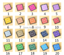 (20 Colors can Choose) DIY Scrapbooking Vintage Crafts Ink pad Colorful Inkpad Stamps Sealing Decoration Stamp(China)