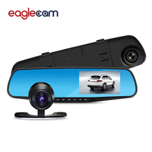Car Rear View Mirror DVR with 2 Cameras Dashcam 1080P Video Registrator Recorder G-sensor Motion Detection Dash cam G30(China)