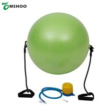 65cm Exercise Fitness Green Yoga Balance Trainer Ball Training BallYoga Ball with Resistance Bands Pump for Pilates Yoga Workout(China)
