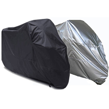 Silver/Black Universal Motorcycle Bike Moped Scooter Cover Outdoor Waterproof Dustproof Anti UV Racing Motocross Covering - Emma Sky store