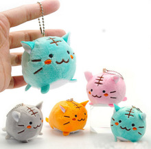 10pcs/lot Random COLOR Kawaii CAT TIGER DOLL Plush Stuffed TOY Keychain DOLL  Gift TOY BAG Pendant TOY Wedding Bouquet Gift