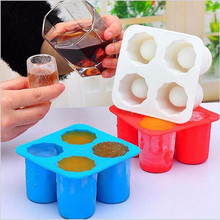 Cool Ice Tray Party Shooters Supplies Shot Glass Freezer Molds Maker Bar Party Drink Ice Tray Cool Shape Ice Cube Freeze Mold(China)