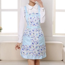 Hot Fashion Women Cooking Cotton Bib Apron Thicken Waterproof Printing Princess Cooking Apron Dress with Pocket Ladies Apron(China)