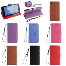Cheap Best Retro Luxury PU Leather Flip Wallet Phone Case Cover For Sony Xperia Experia Z3 D6653 Red Rose Brown Purple Blue