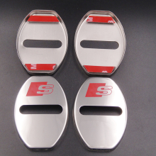 4PCS/Set Car-Styling Stainless Steel Car-Covers Door Lock Cover Stickers For Audi A5 Interior Decoration Accesories Car Styling