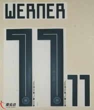 2018 Germany Home WERNER 11 Name/Number Player Set WERNER 11 WORLD CUP 2018 HOME NAMESET(China)