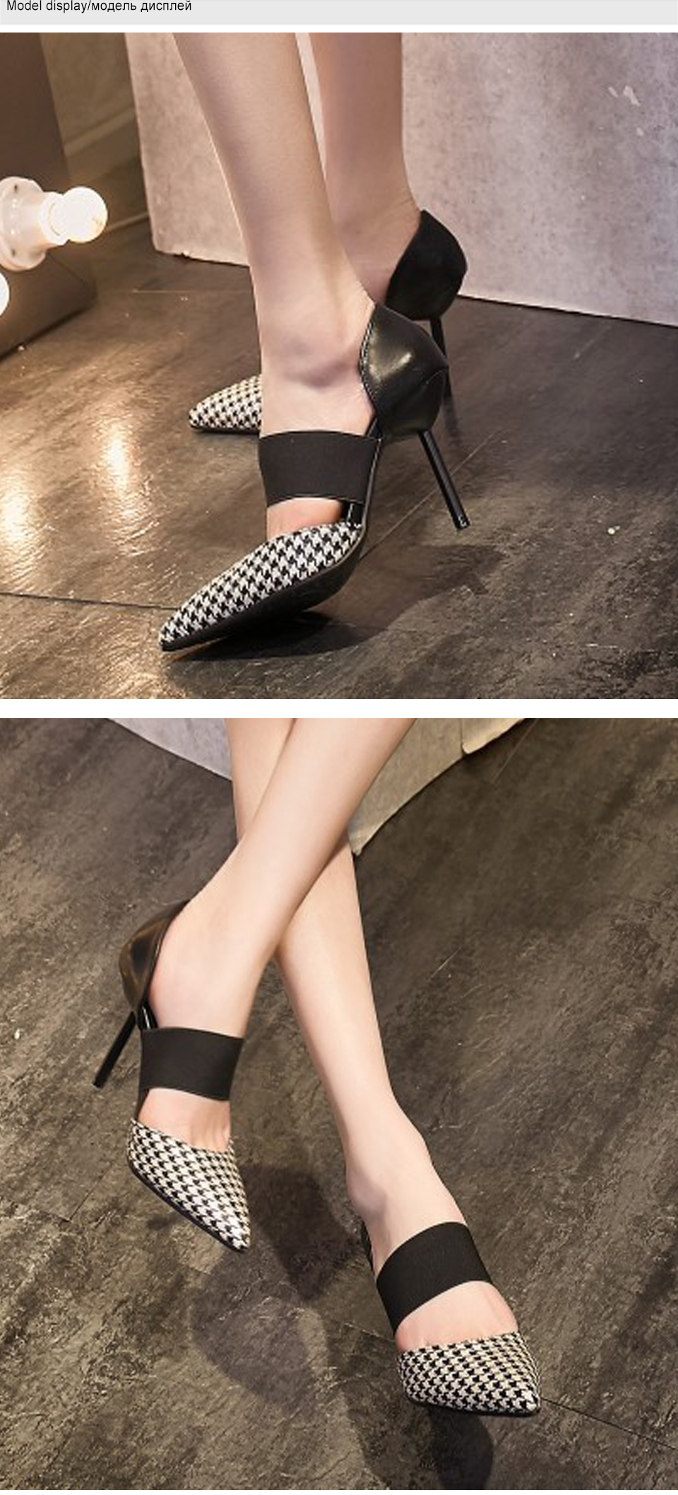 Women Shoes High Heels Brand Woman Pumps Spring Pointed Toe Black Ladies Dress Shoes Heels Women Party Shoes Chaussure Femme DE 6