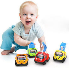 Truck Vehicle Mini Pull Back Car Model Moveable Racer Child Toy Cartoon Cars Toy Vehicles