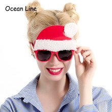 2018 New Santa Claus Costume Glasses Christmas Decorations Gifts Festive & Party Supplies New Year Ornaments Toys Accessories(China)