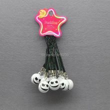 10X White Jack Nightmare Before Christmas Cell Phone Strap JINGLE BELLS Dangle Charms Cute Gifts 9cm(China)