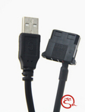 Hot sell IDE Molex to USB A Male Converter 5V Power Cable Cord for Laptop Router Cooling Fan