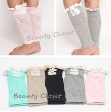 120pairs/Lot Mix 6 Colors Children Girl Crochet Boot Leg Warmers(China)