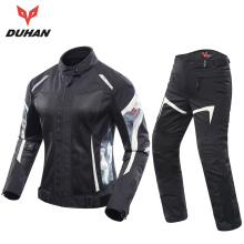 DUHAN Women Motorcycle Jacket And Motorcycle Pants Set Breathable Mesh Motorbike Jacket Jaqueta Motoqueiro Jackets Motorcycle(China)